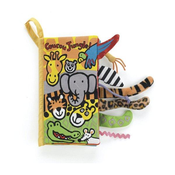 Livre coucou Jungle fermé animaux perroquet éléphant girafe crocodile tigre