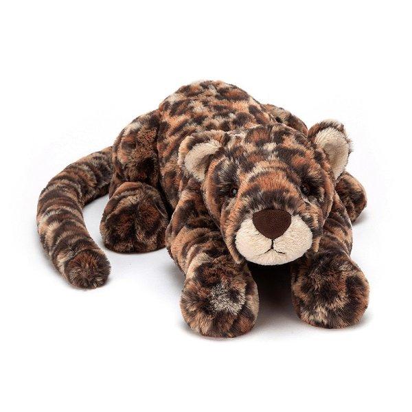 Livi le leopard peluche fauve medium large