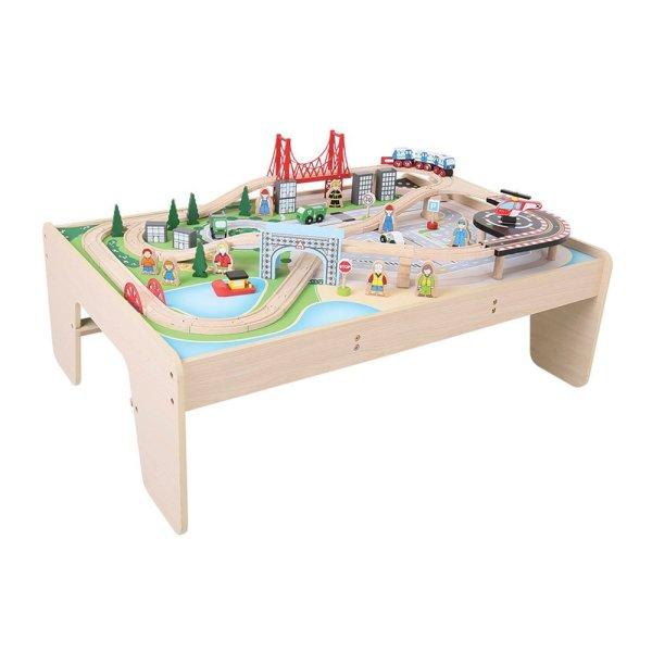Table circuit de train bois bigjigs