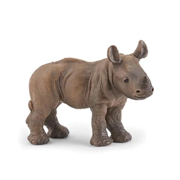 Figurine Les animaux du zoo, Bébé rhino, Papo, Bidiboule