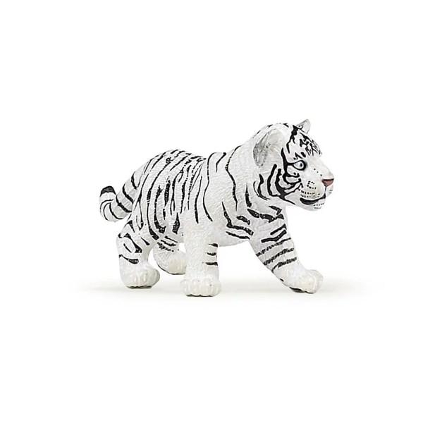 Figurine Les animaux du zoo, Bébé tigre blanc, Papo, Bidiboule