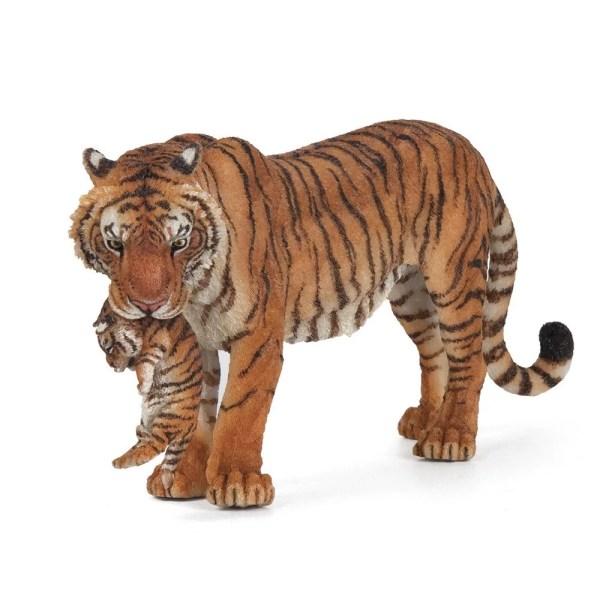 Figurine Les animaux du zoo, Tigresse et son bébé, Papo, Bidiboule