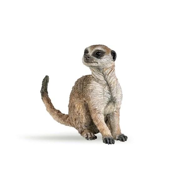 Figurine Les animaux du zoo, Suricat assis, Papo, Bidiboule