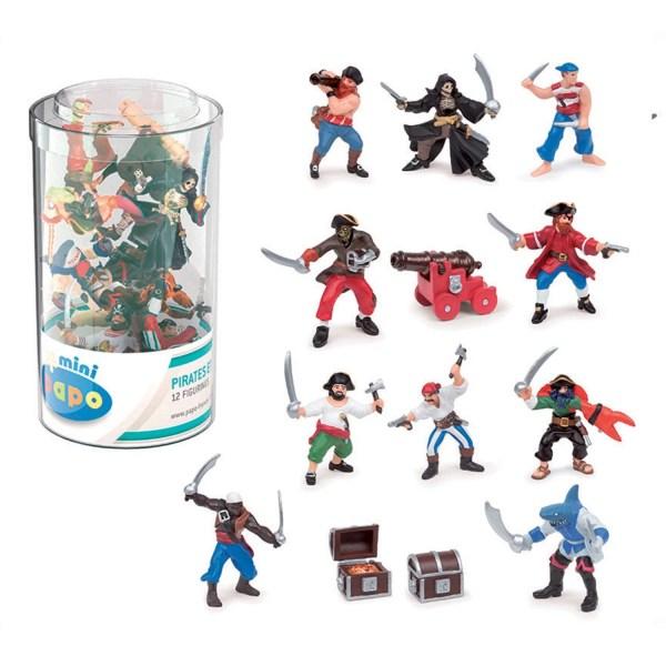 Mini Figurines Pirates, Tube pirates, Papo, Bidiboule