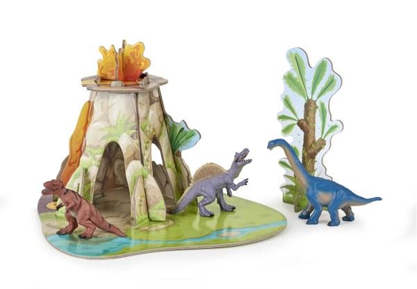Figurines Dinosaures, Mini terre des dinosaures avec figurines, Papo, Bidiboule