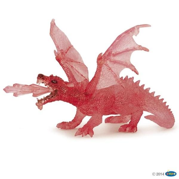 Figurines Fantastique, Dragon rubis, Papo, Bidiboule