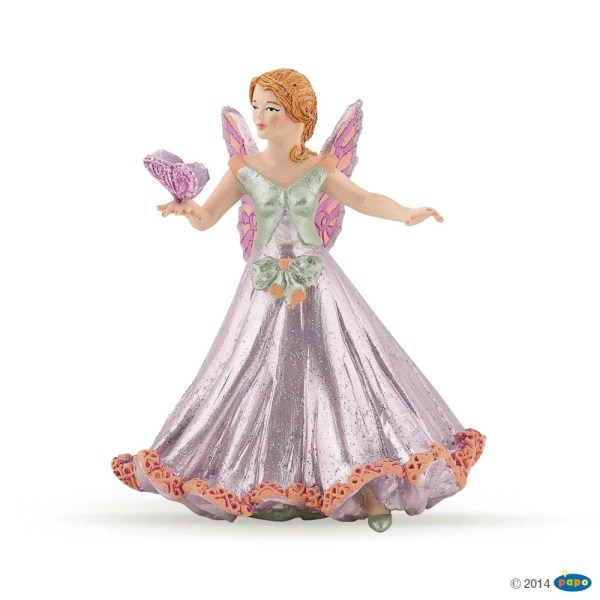 Figurines Monde enchanté, Elfe papillon rose, Papo, Bidiboule