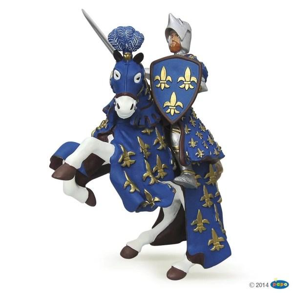 Figurines Chevaliers, Prince Philippe et son Cheval bleu, Papo, Bidiboule