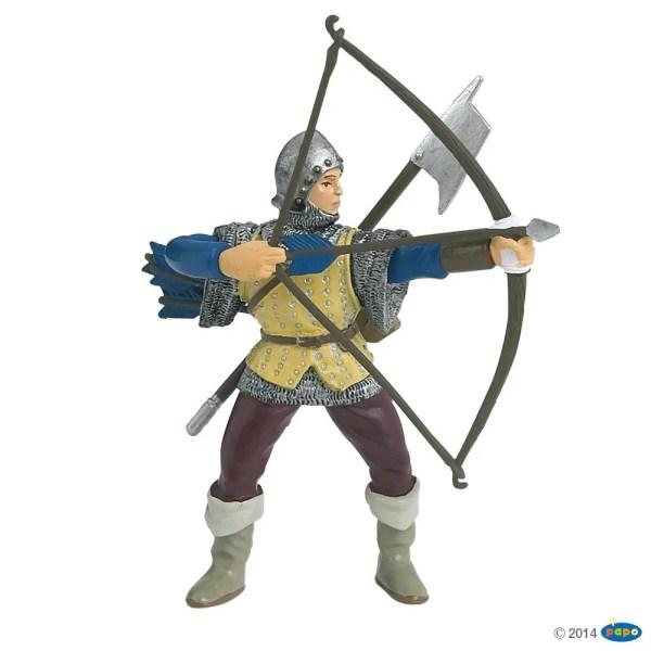 Figurines Chevaliers, Archer bleu, Papo, Bidiboule