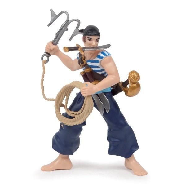 Figurines Pirates, Corsaire eu grappin, Papo, Bidiboule
