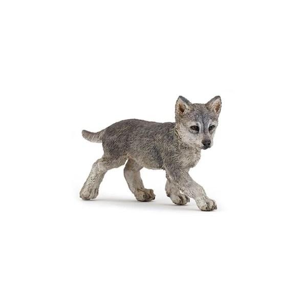 Figurine Les animaux de la forêt, Bébé loup, Papo, Bidiboule