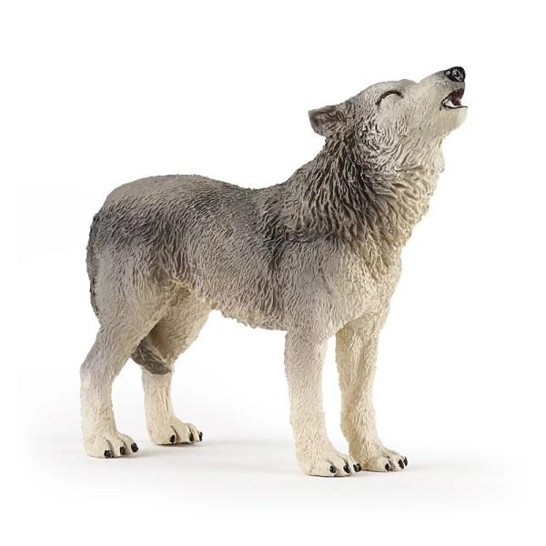 Figurine Les animaux de la forêt, Loup hurlant, Papo, Bidiboule