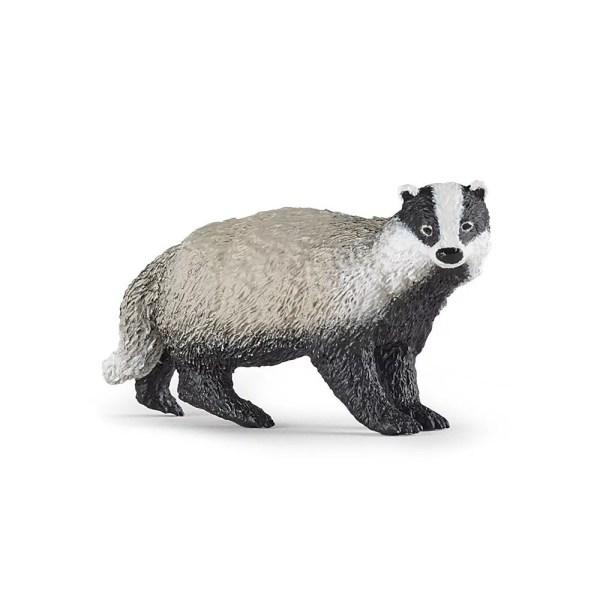 Figurine Les animaux de la forêt, Blaireau, Papo, Bidiboule