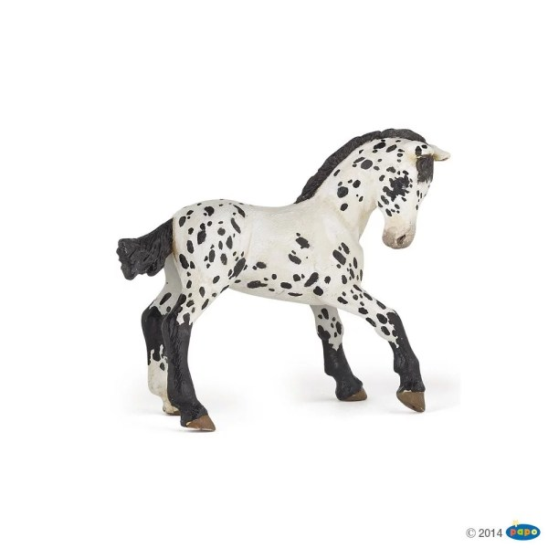 Figurines Chevaux, Poulain appaloosa noir, Papo, Bidiboule