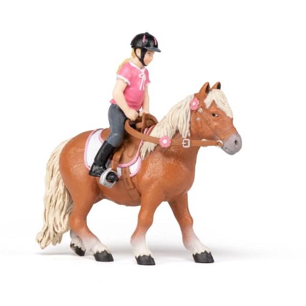 Figurines Chevaux, L'enfant cavalière et son poney, Papo, Bidiboule