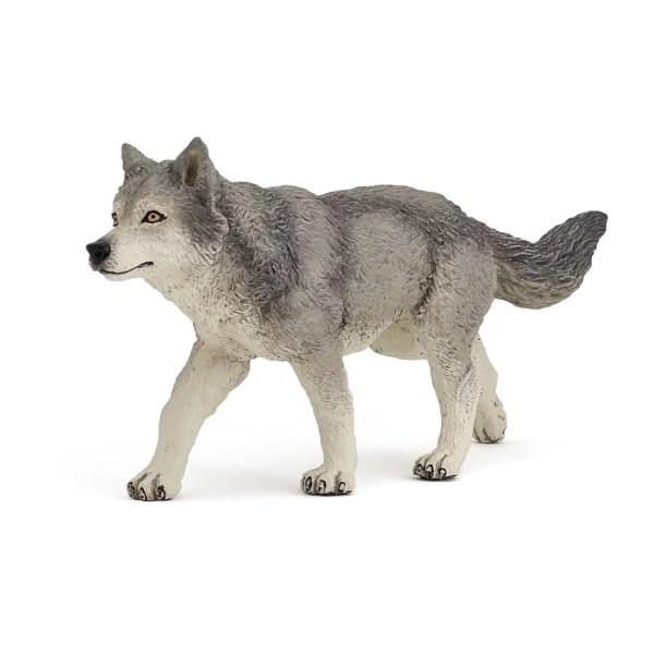 Figurine Les animaux de la forêt, Louve grise, Papo, Bidiboule