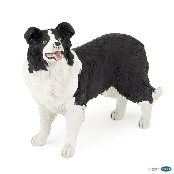 Figurines Animaux de la ferme, Chien border collie, Papo, Bidiboule