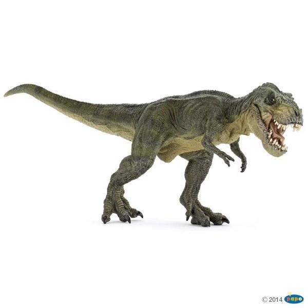 Figurines Dinosaures, T-rex courant vert, Papo, Bidiboule