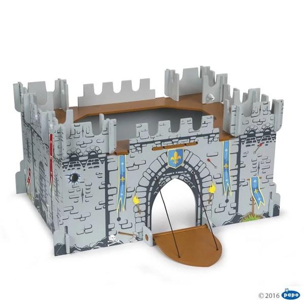 Mon premier château médiéval pont levis ouvert, bois, Papo, Bidiboule