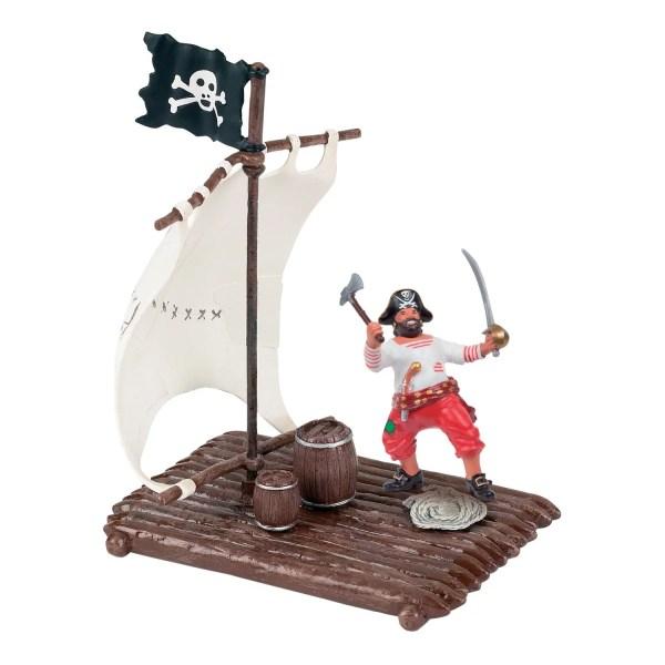 Radeau des pirates, Polychlorure de vinyle, Papo, Bidiboule