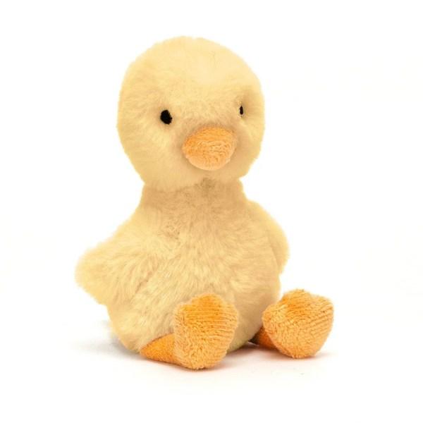 Le petit canard se décline en deux couleurs : jaune ou blanc crème. Ici on voit le modèle jaune.