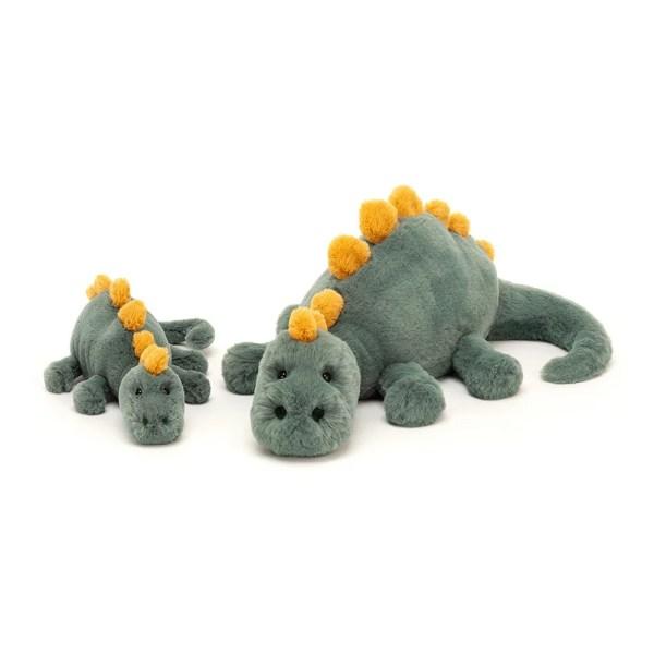 Douglas le Dino existe en deux tailles pour la plus grande satisfaction des petits et des grands.
