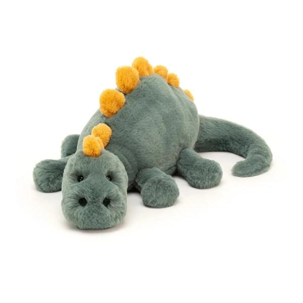 La peluche Douglas le Dino est une peluche très douce en forme de dragon, idéale dès la naissance.