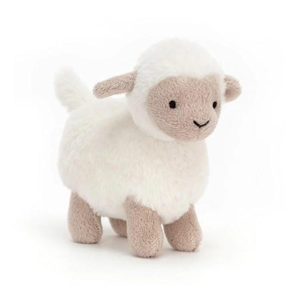 Les peluches Diddle se déclinent en plusieurs sortes d'animaux : ici l'agneau et ses bouclettes blanches