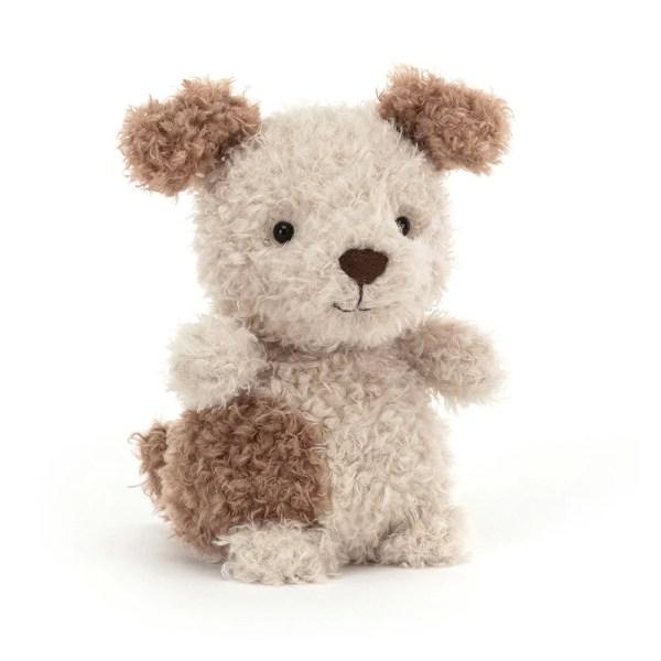 La peluche Little Pup est une peluche très douce qui représente un adorable petit chien. C'est un animal de compagnie destiné aux bébés dès la naissance.