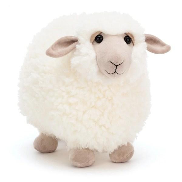Peluche Rolbie le Mouton Mouton blanc 28 cm,