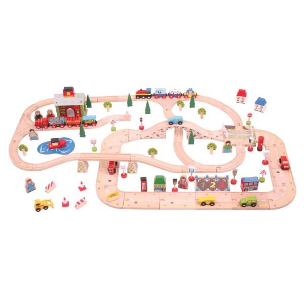 Le circuit de train ville et campagne est très complet, il a 91 pièces.