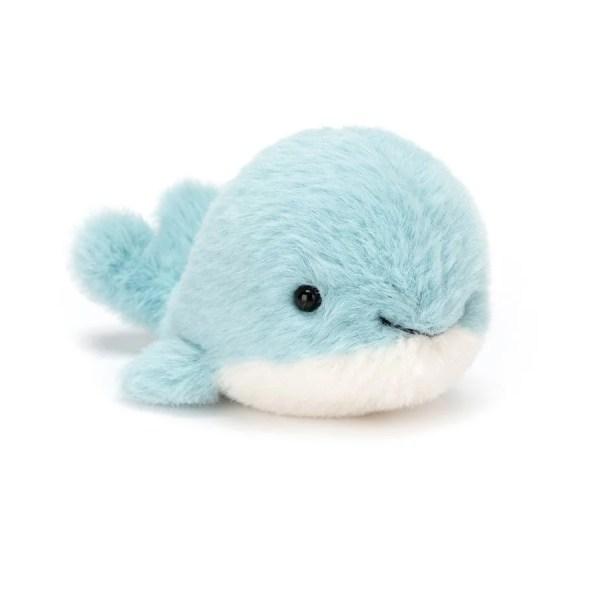Parmi les animaux de la mer Fluffy, la Baleine blanche et bleue toute douce.