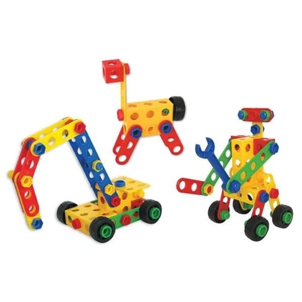 Avec ce jeu de construction géant XXL en plastique de 360 pièces, les jeunes enfants peuvent laisser aller leur imagination !