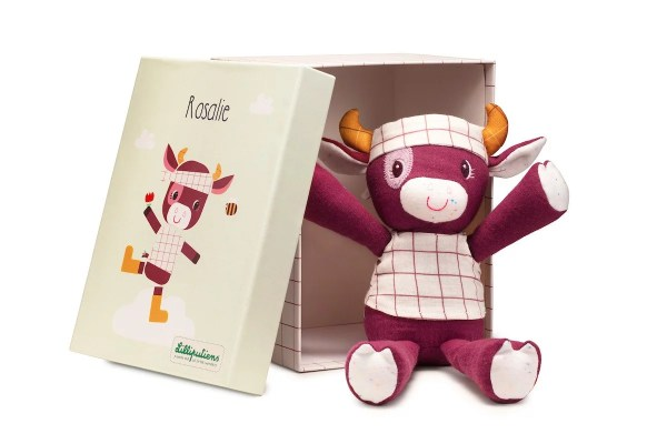 Peluche câline Rosalie la Vache-Lilliputiens-Bidiboule
