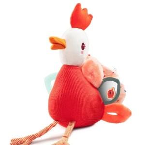 Peluche d'activités Paulette la poulette