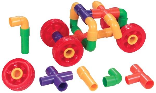 Ce jeu de construction tuyaux encastrables est un jeu éducatif destiné aux enfants dès l'âge de 3 ans.