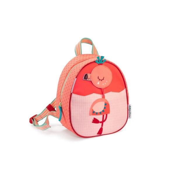 Les enfants dès 2 ans seront séduits par l'élégance du sac à dos Anaïs le flamand rose et ses belles couleurs vives. On peut même tourner la tête d'Anaïs selon son humeur : on est gai, Anaïs sourit, on est triste, Anaïs pleure !