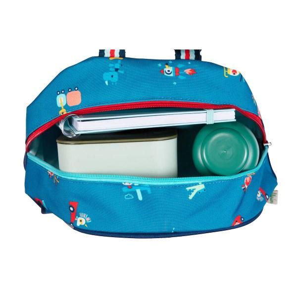 Le sac est imperméable et peut ainsi affronter les intempéries mais aussi se laver très facilement.Fabriqué à partir de matières 100% recyclées, c'est un sac à dos écologique d'une très grande légèreté.
