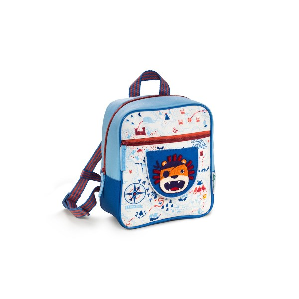 La sac à dos Jack le pirateest un sac à dos spécialement conçu pour les jeunes enfants. Très pratique, il dispose d'un grand espace de rangement et de plusieurs poches dont une grande poche à fermeture éclair sur le devant.Fabriqué à partir de matières 100% recyclées, c'est un sac à dos écologique d'une très grande légèreté. Le sac à dos En route est l'équipement indispensable pour une rentrée scolaire réussie et des vacances sans soucis !