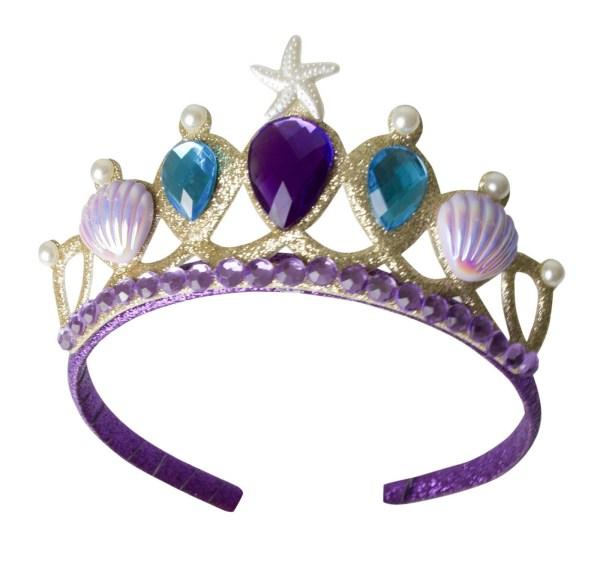 Tiare de la jupe de sirène avec des pierres précieuses bleues et violettes