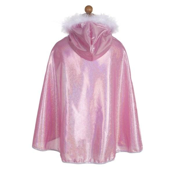 Cape rose de dos sur un mannequin sans tête