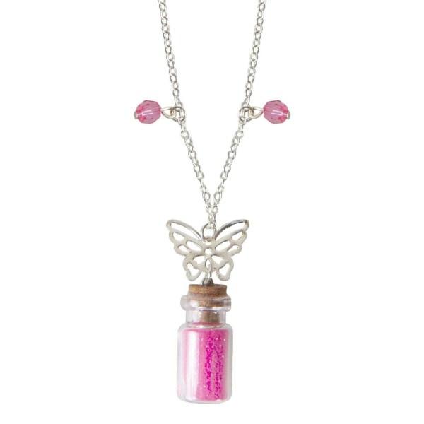 Collier poussière de fée rose