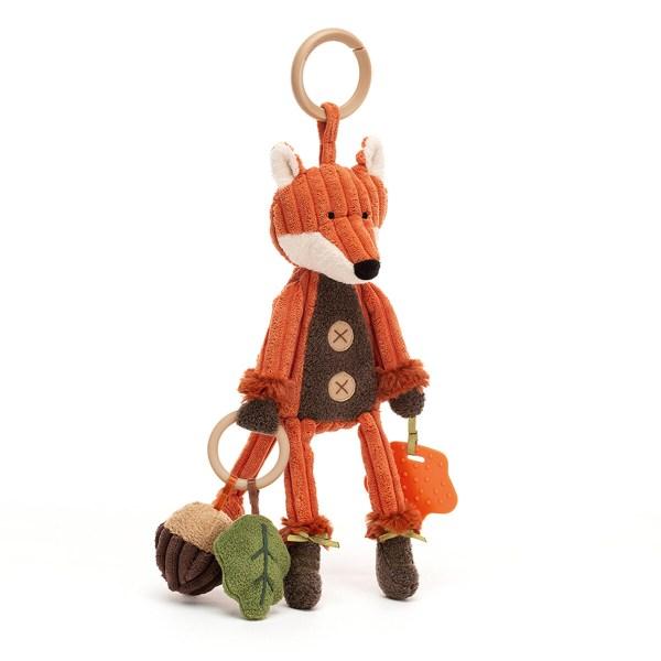 Cordy renard transporte un gland et a un beau pelage couleur de feu. Des animaux aussi mignons que joueurs et qui seront un très beau cadeau de naissance à la fois ludique et éducatif !