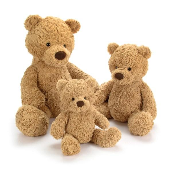 Ours en peluche traditionnel. Existe en trois tailles.