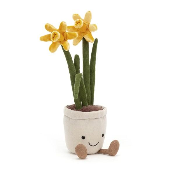 es jonquilles ont une couleur jaune très lumineuse. La peluche Fleur amusante sera parfaite pour les amoureux des jardins et de la nature de tous les âges, y compris les nouveaux nés ! les Bébés adoreront jouer avec tous les détails de la peluche et les explorer avec leurs petites mains.
