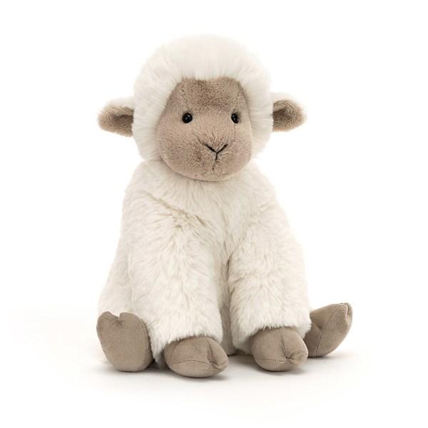 Cette peluche très douce en forme d'agneau va faire chavirer le cœur des tout-petits dès la naissance. D'une très grande douceur au toucher, l'agneau Libby a une bouille très sympathique que Bébé va adorer.