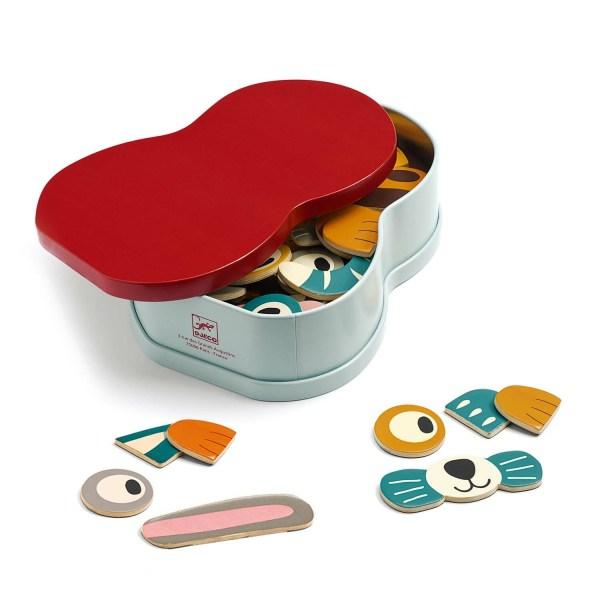 boite du jeu magnétique InZeBox Animo côté rouge avec quelques accessoires à côté