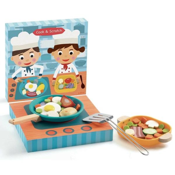 Cook & Scratch boite cuisinière avec poêle remplie d'aliments et plat aussi