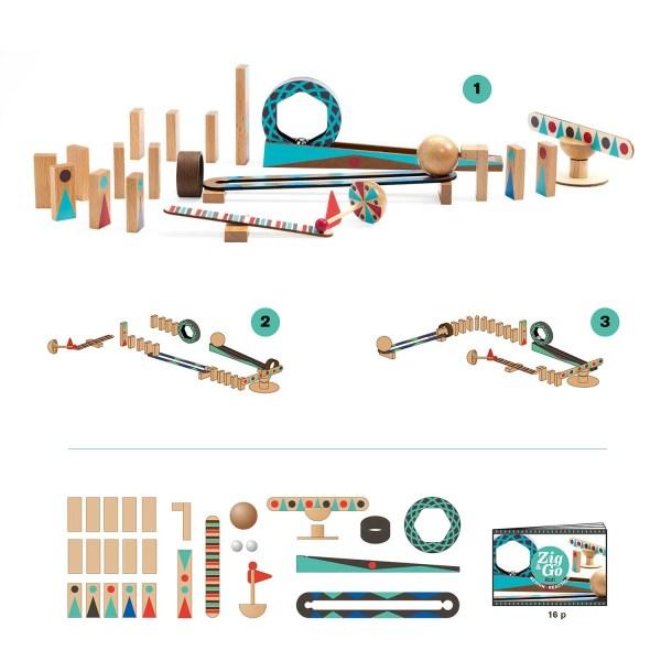 Zig & Go Roll contenu du la boite avec différents circuits possible