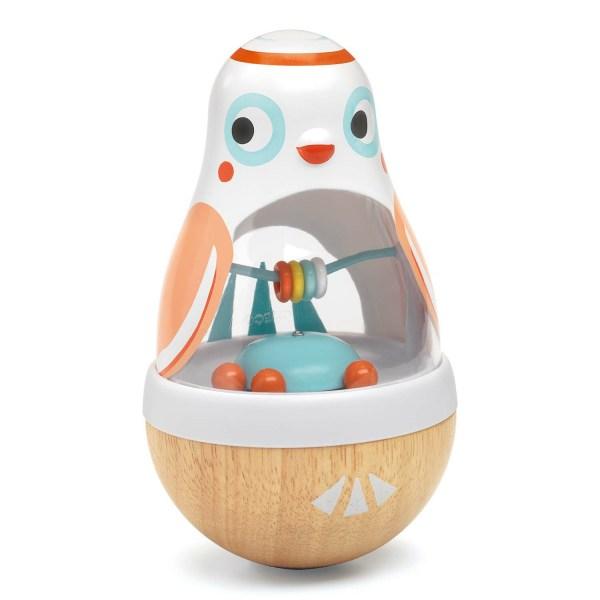 Culbuto BabyPoli décoré comme une chouette